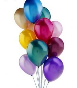 Por que os balões de gás hélio sobem?