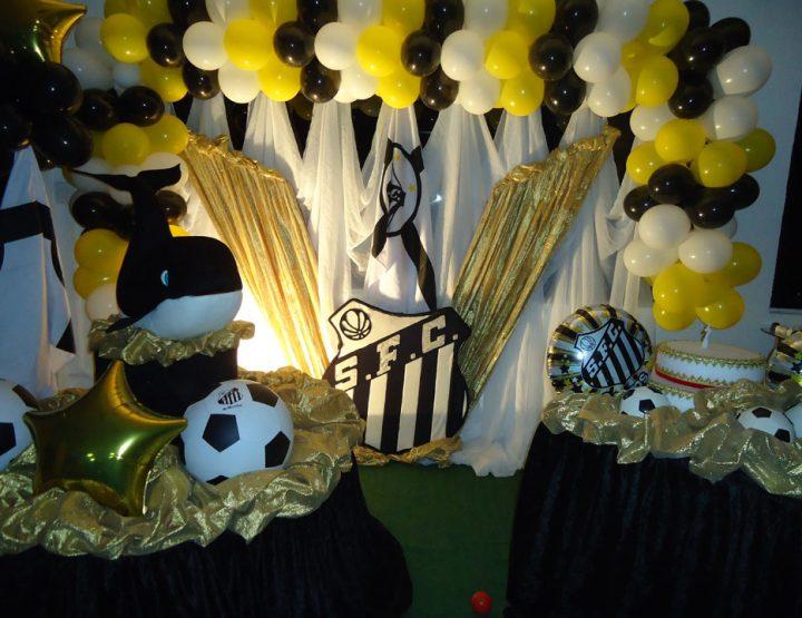 Festa infantil tema Santos Futebol Clube - Buffet Roma