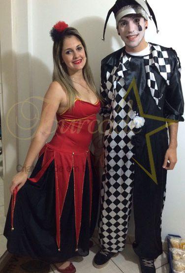 Festa da Associação dos Aposentados - Colombina e Pierrot